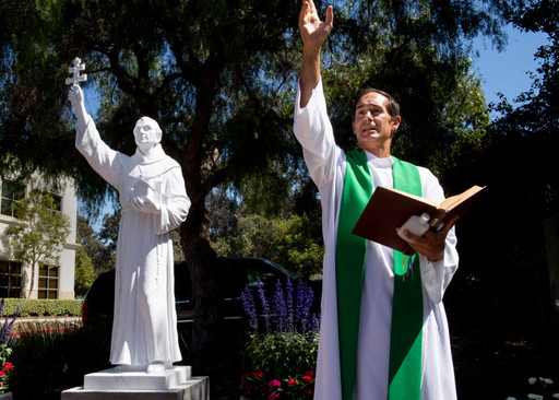 OC Register: New Statue of Saint Junipero Serra Receives Blessing and Dedication at JSerra