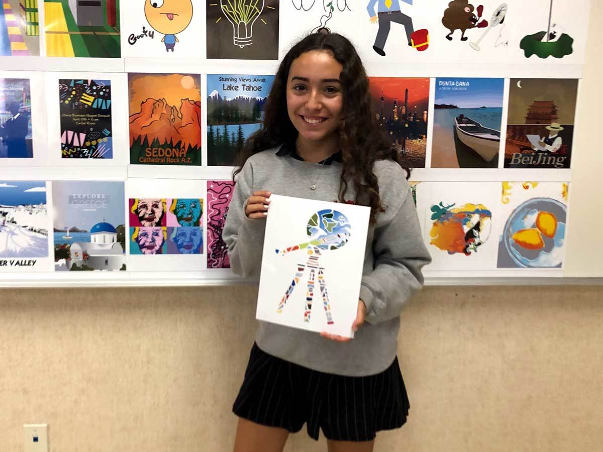 Sophomore Ana Andrade's Masterpiece Selected for Festival of Arts T-Shirt