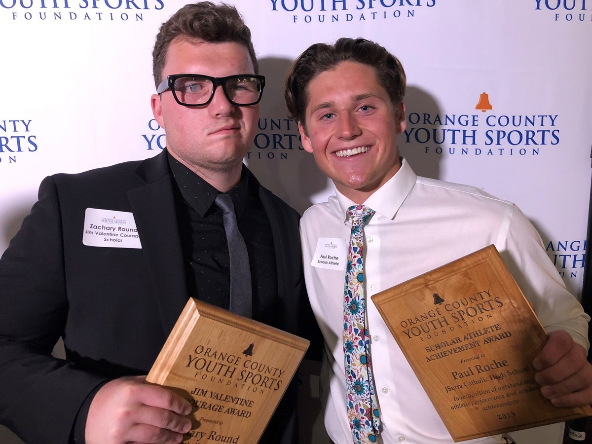 Seniors Zach Round and Paul Roche Selected by OCYSF as Scholarship Winners