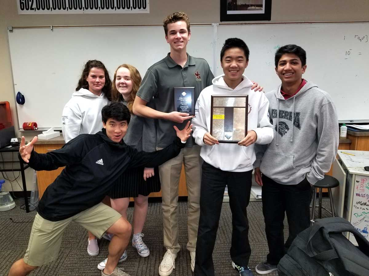 JSerra Places in Top 5 at American Chemical Society Competition