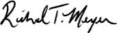 President's signature above his name