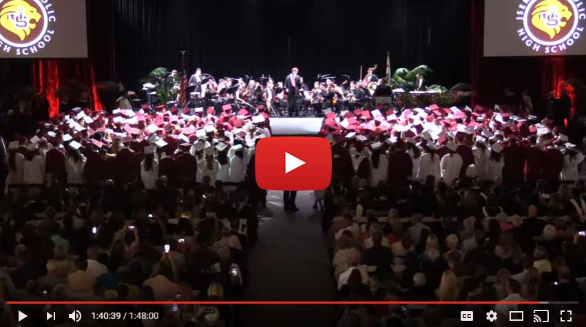 Video of JSerra graduates singing the alma mater