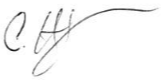 Signature of Director of Admissions above his typed name