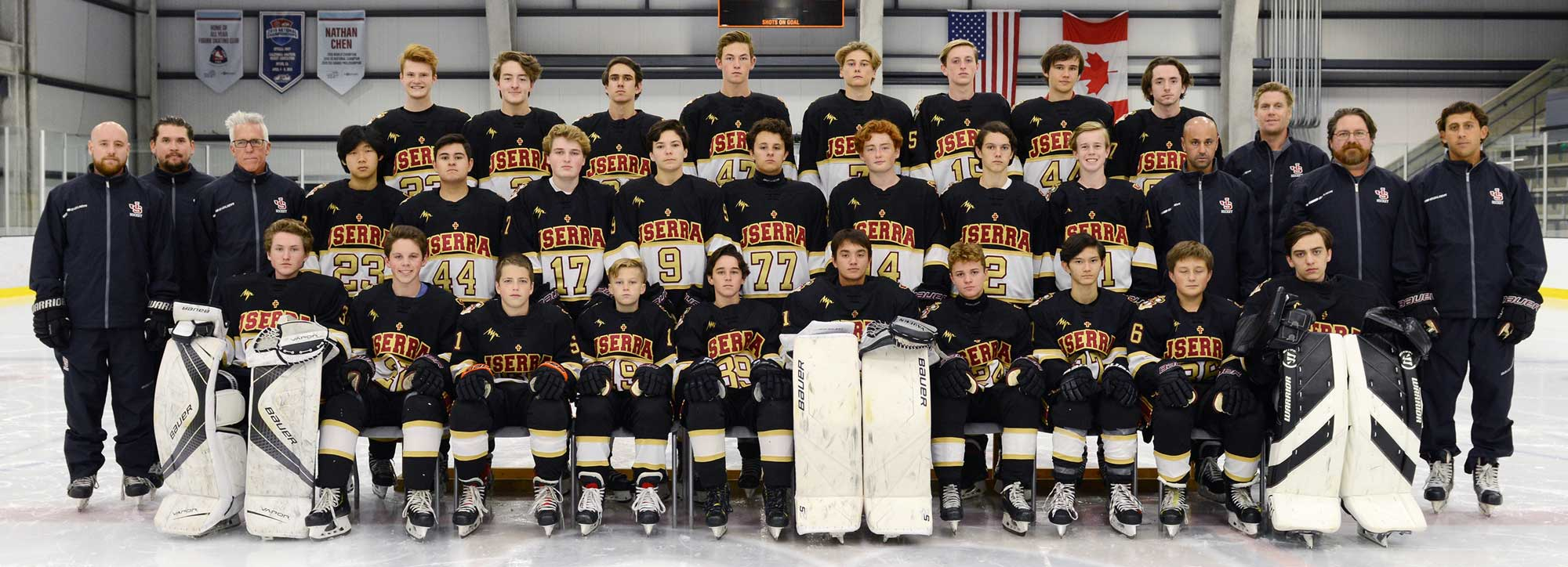 Photo of the JSerra Ice Hockey Team for the 2018-2019 school year