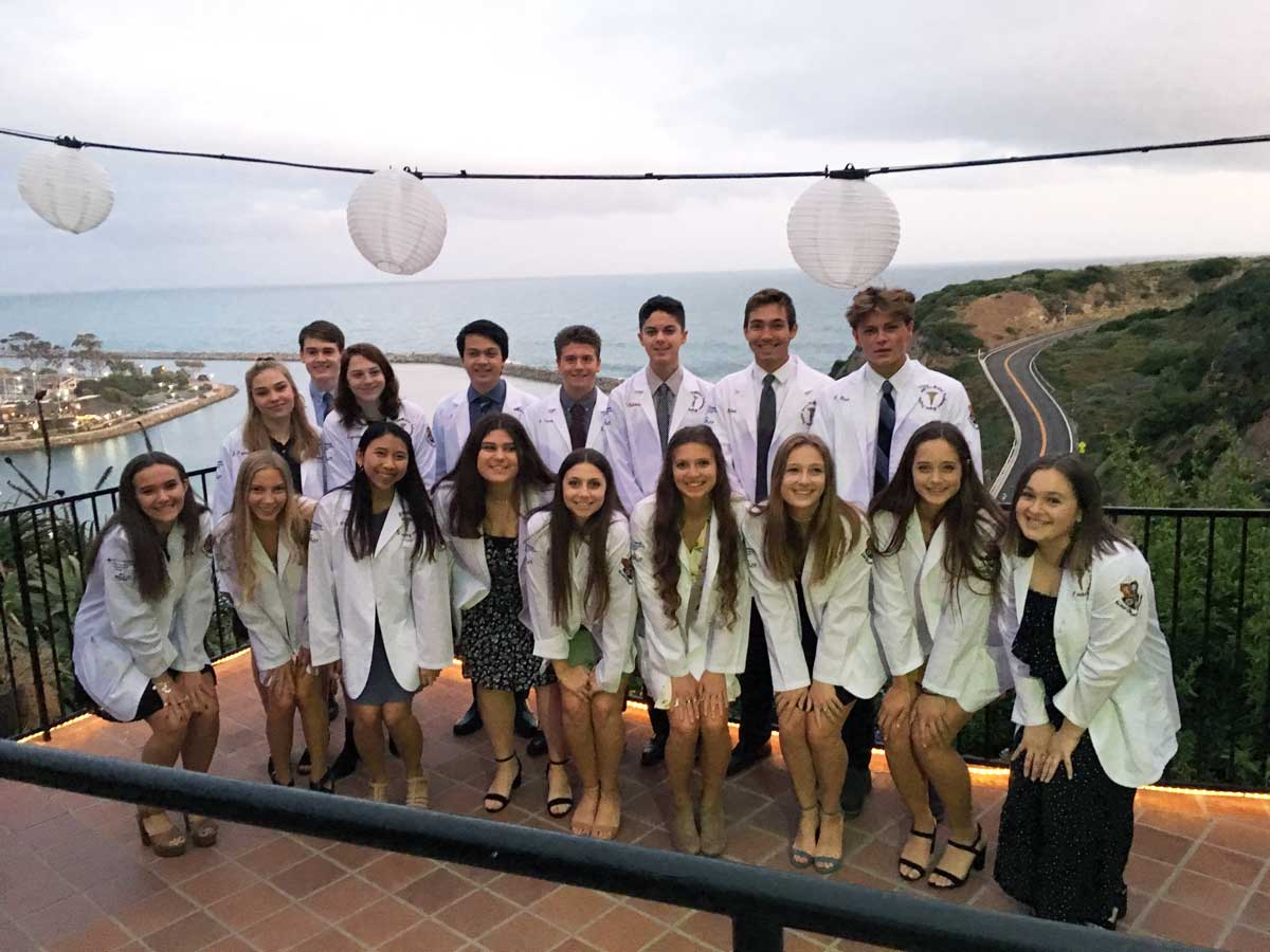 Students from the class of 2019's medical magnet program at JSerra